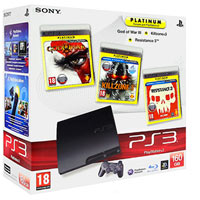 PlayStation 3 (160G) + Игры God of War 3 + Killzone 3 + Resistance