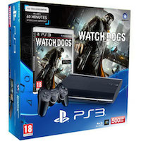 PlayStation 3 (500G) Super Slim + Игра Watch_Dogs