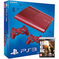 PlayStation 3 (12G) Super Slim + Controller Red + Игра Одни из Нас