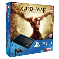 PlayStation 3 (500G) Super Slim + Игра God of War: Ascension