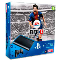 PlayStation 3 (500G) Super Slim + Игра FIFA 13