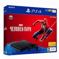 PlayStation 4 Slim (1Tb) + Игра Человек-паук