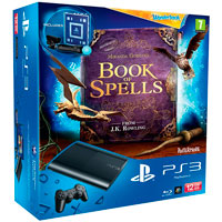 PlayStation 3 (12G) Super Slim + Книга заклинаний + Wonderbook + Starter Pack