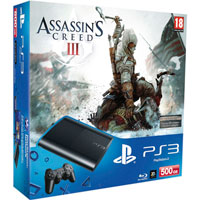 PlayStation 3 (500G) Super Slim + Игра Assassin's Creed III