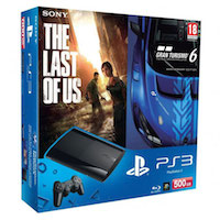 PlayStation 3 (500G) Super Slim +Игры Gran Turismo 6 + The Last of Us