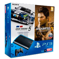 PlayStation 3 (500G) Super Slim + Игры GT5 + Uncharted 3