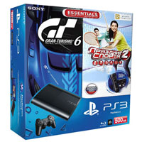 PlayStation 3 (500G) Super Slim + Игры Gran Turismo 6 + Праздник Спорта 2 + Starter Pack