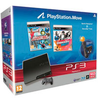 PlayStation 3 (160G) + Игры Праздник Спорта + DanceParty + Starter Pack