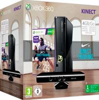 XBox 360 4G (Slim) + Kinect + Игра Nike + Kinect Training