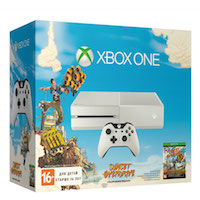 XBox One 500G White + Игра Sunset Overdrive