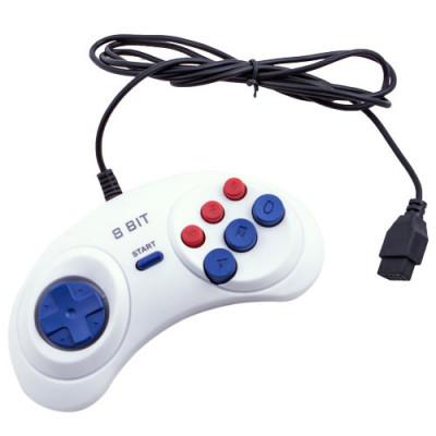 Dendy Controller (форма Sega) 9р White узкий разъем