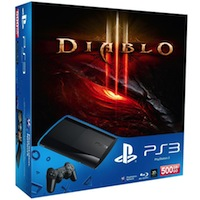 PlayStation 3 (500G) Super Slim + Игра Diablo III + 2x Skins (Наклейки)