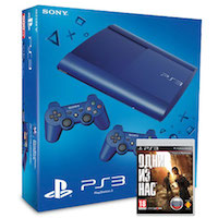 PlayStation 3 (12G) Super Slim + Controller Blue + Игра Одни из Нас