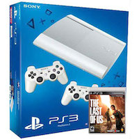 PlayStation 3 (12G) Super Slim + Controller White + Игра Одни из Нас
