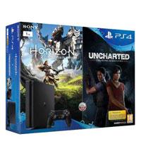 PlayStation 4 Slim (1Tb) + Игры Horizon Zero Dawn и Uncharted: Утраченное наследие