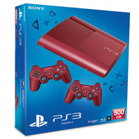 PlayStation 3 (500G) Super Slim + Controller Red