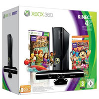 XBox 360 4G (Slim) + Kinect + Игра Carnival Games +  3М Live